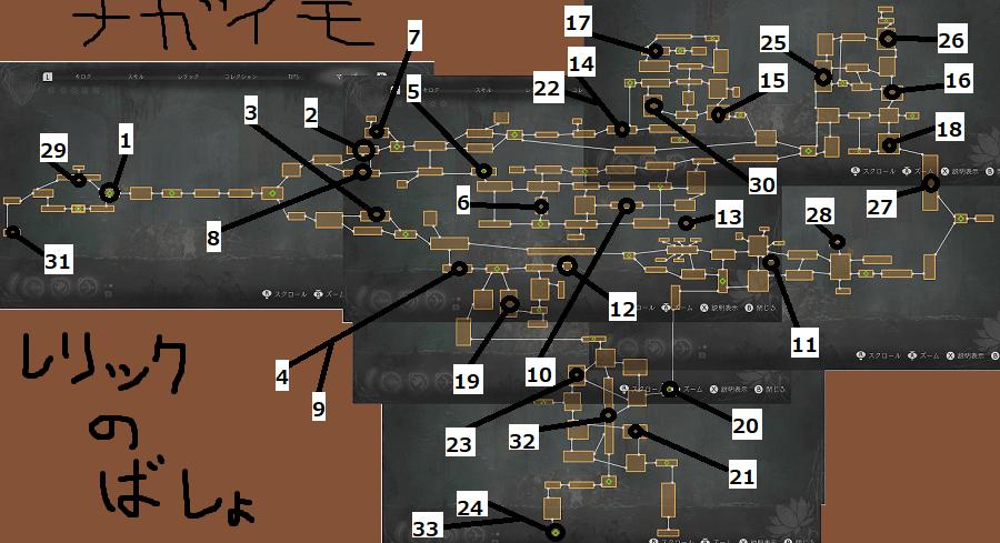 エンダーリリィズ攻略 レリックの効果と入手場所一覧の画像