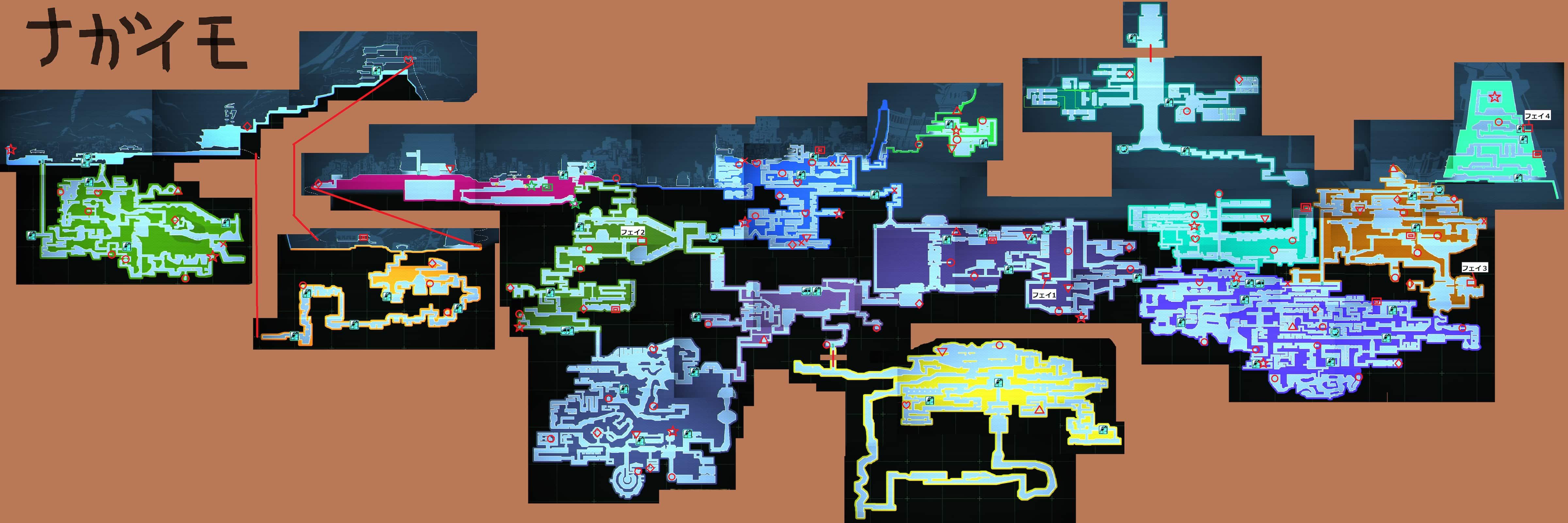 【フィスト 紅蓮城の闇】攻略wiki用アイテム付き全体マップ画像